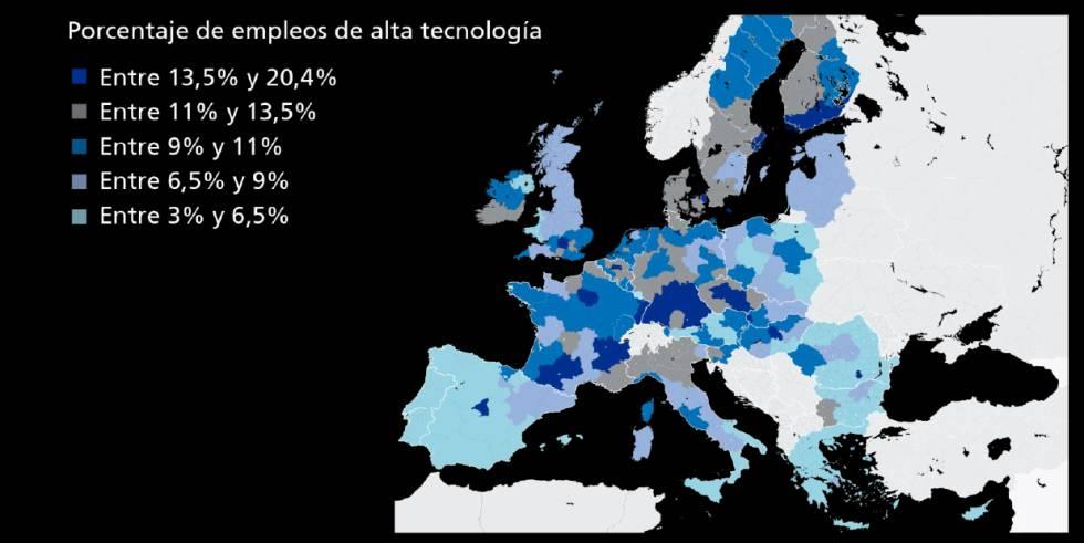 España se encuentra a la cola en el proceso de transformación de los trabajadores