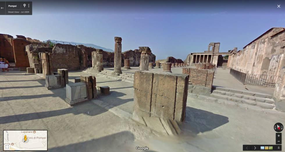Las ruinas de Pompeya se pueden visitar virtualmente gracias a Google.