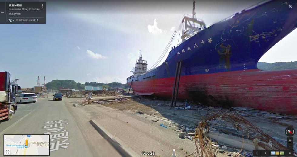 Las imágenes captadas por Google Street View se han utilizado para evaluar los daños de catástrofes como el terremoto y tsunami de Japón de 2011.