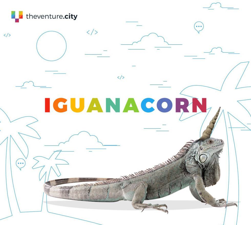 El iguanacornio, personaje mítico.