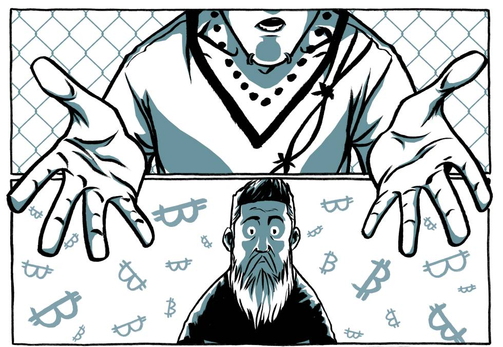 Viñeta del cómic La caza de Satoshi Nakamoto, de Alex Preukschat.