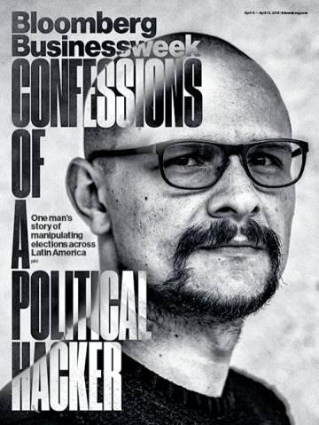 Portada de 'Bloomberg' con el retrato del hacker Andrés Sepúlveda