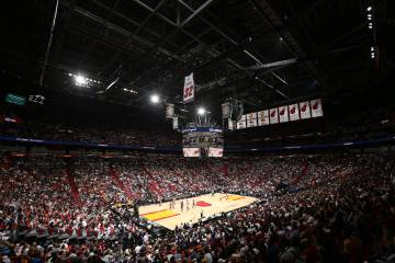 Estadio de los Miami Heat durante un partido contra Los Angeles Lakers en diciembre de 2016