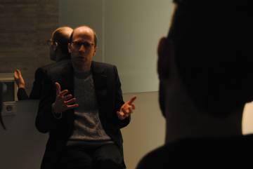 Nick Bostrom durante la entrevista en la Fundación Giner de los Ríos