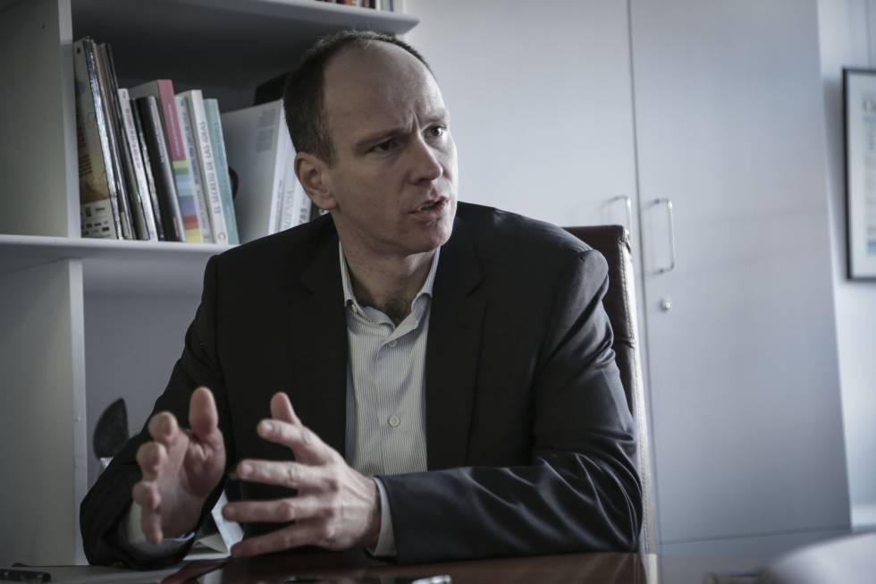 Vincent Belliveau , durante la entrevista.