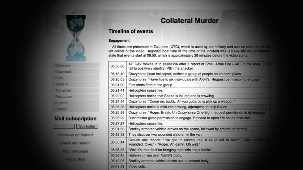 Pantallazo de documentos difundidos por WikiLeaks.