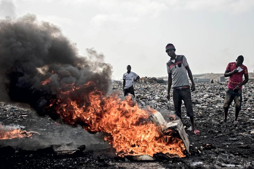 El vertedero de Agbogbloshie (Ghana) es uno de los lugares más contaminados del mundo.
