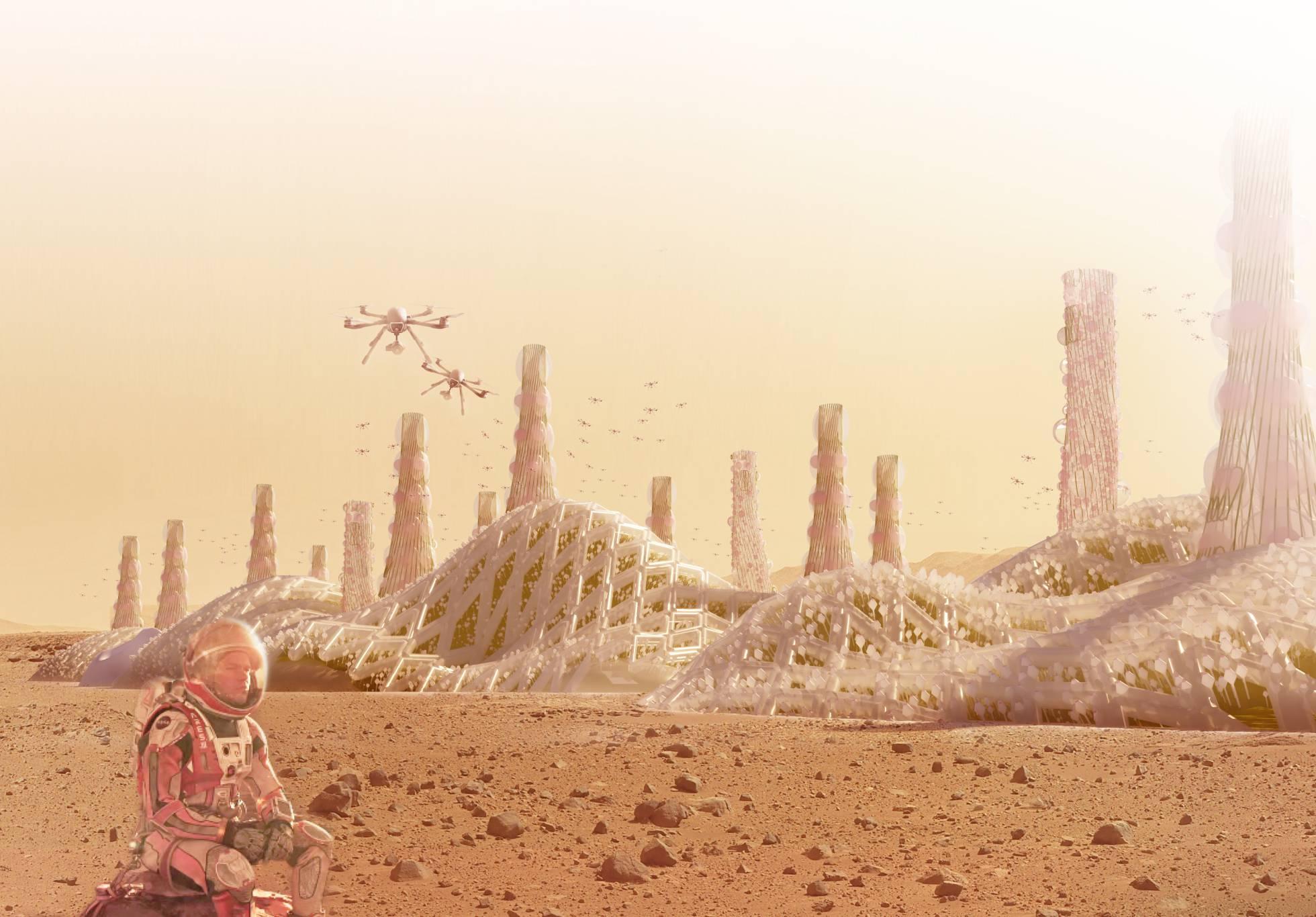 Espacio Microalgas y drones, ya estamos listos para vivir en Marte