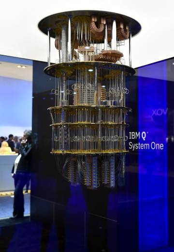 El IBM Q System One en el Centro de Convenciones de Las Vegas el pasado enero.