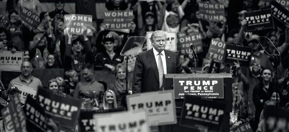 Donald Trump lanzó mensajes muy distintos en función de la audiencia de cada mitin. Todo estaba calculado.