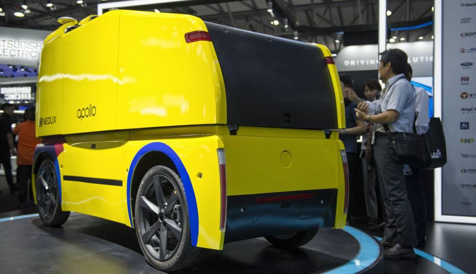 El vehículo autónomo de reparto Neolix está desarrollado a partir de la plataforma de código abierto Apollo de Baidu y está ya en pruebas.
