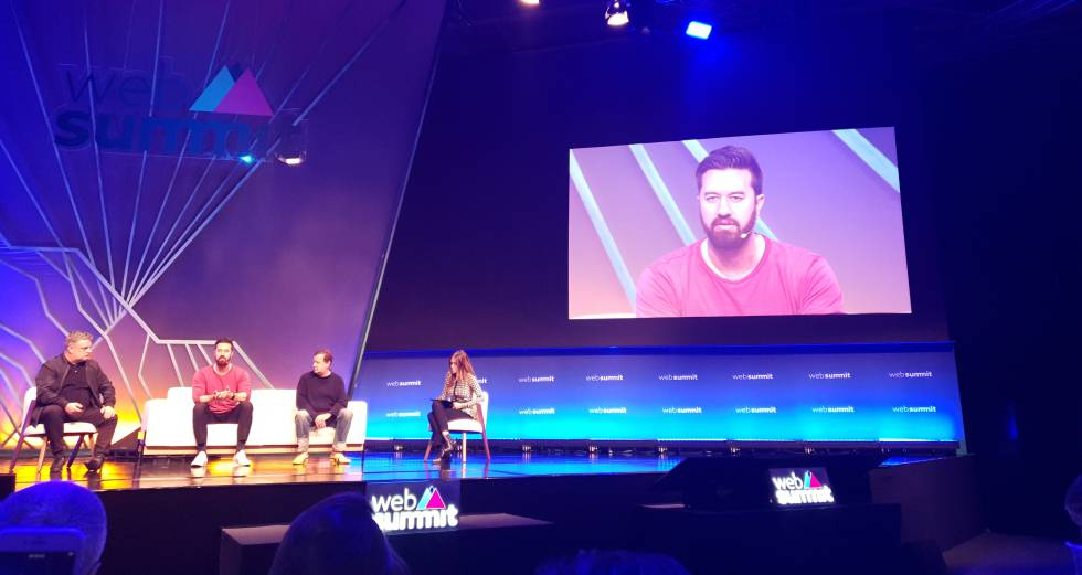 Greg Lutze, co-founder of VSCO, during his presentation at Web Summit 2019.