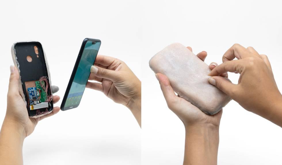 Funda de piel artificial para móviles