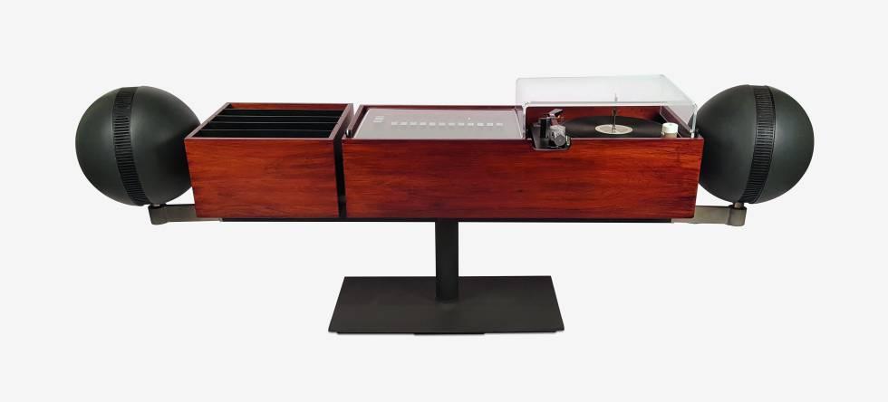 Der Project G2 Stereo-Plattenspieler, der 1966 von Hugh Spencer für Clairtone entworfen wurde.