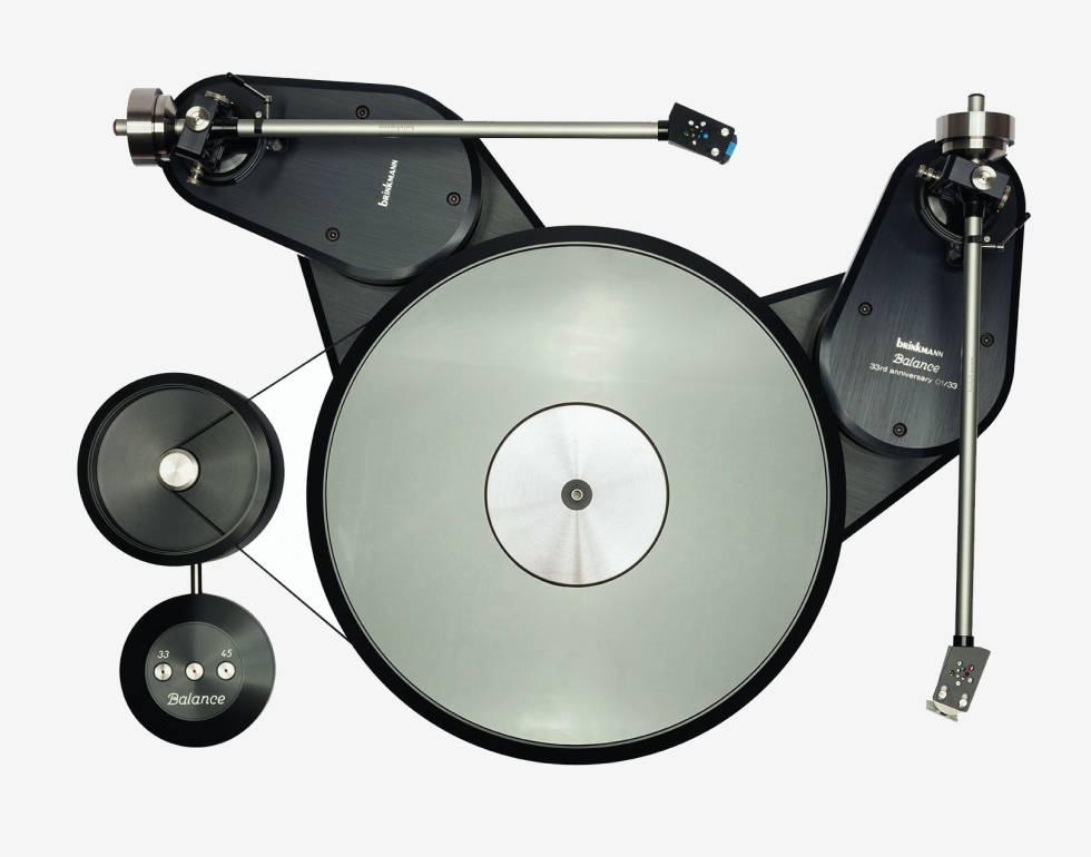 Brinkmanns Plattenspieler Balance Belt-Drive wurde 1985 in den Handel gebracht und 2018 neu aufgelegt.