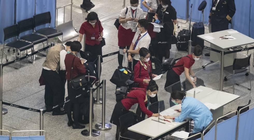 Imágenes del aeropuerto de Hong Kong