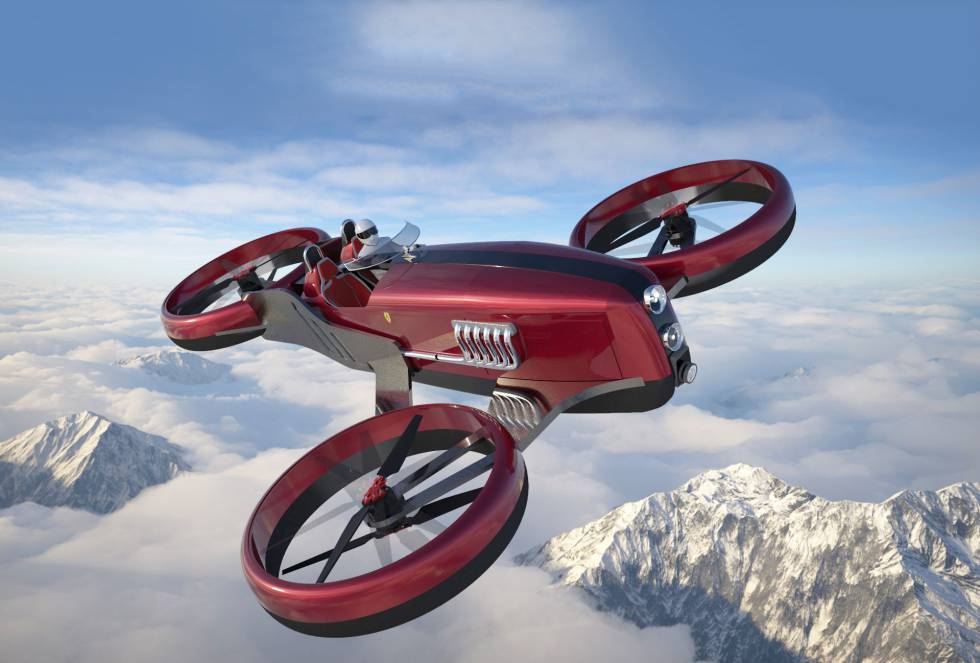 Con un desarrollo de años y un avance lento pero seguro, la movilidad aérea no deja de registrar proyectos. Desde los pioneros Volocopter, Vahana, AeroMobil, Lilium Jet o PAL-V Liberty (a la venta desde 2018 por 500.000 euros) hasta las propuestas más cercanas a la ensoñación o al capricho, como el Ferrari FD One, un biplaza inspirado en los fórmula 1 de  los años cincuenta capaz de volar a 500 kmh y con una autonomía de tres horas.
