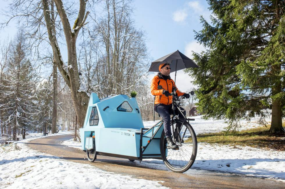 Z-Triton: the caravan that is also a bicycle, a boat and a house
